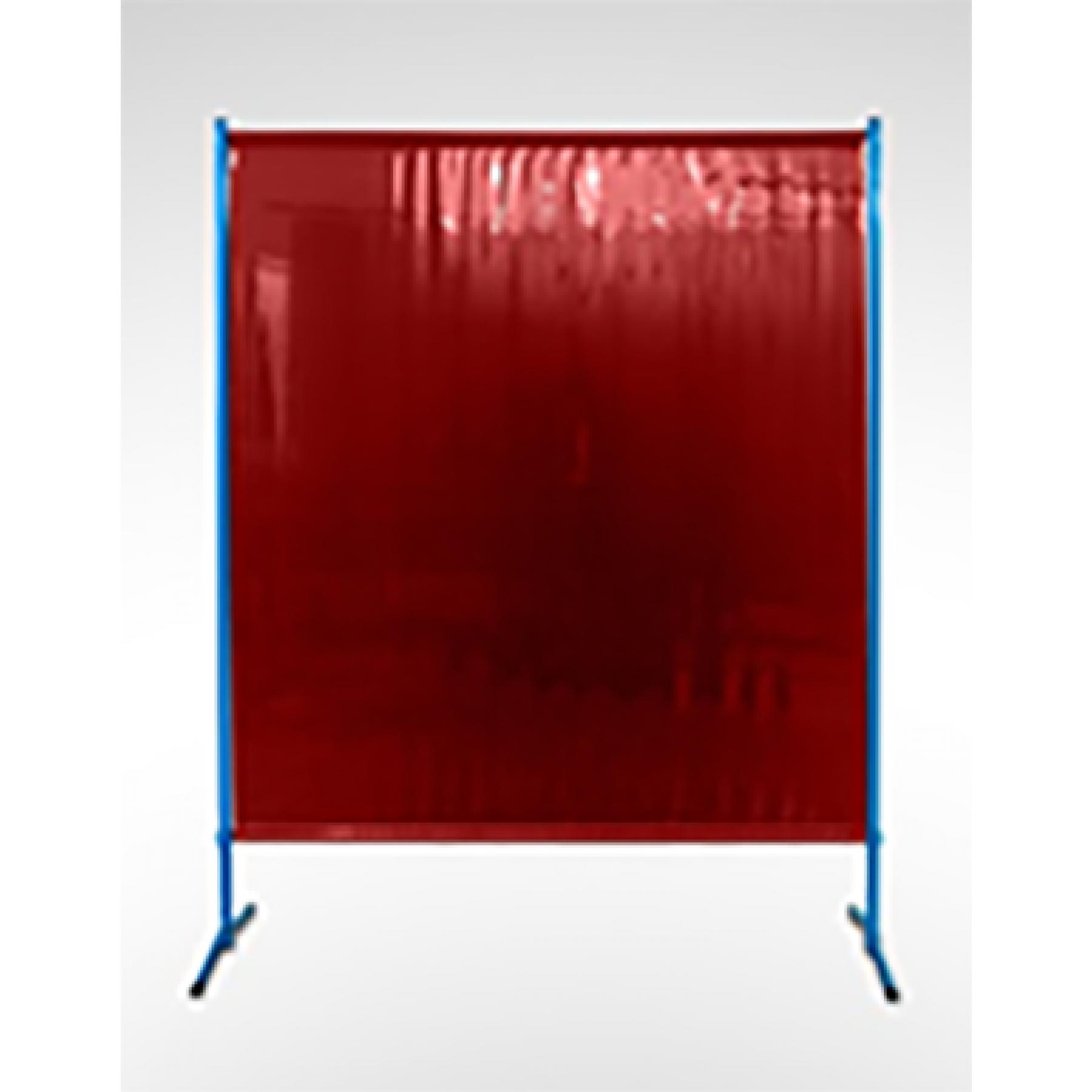 Lasscherm ECO, 1455 x 1870 mm (breedte x hoogte), 0.4 mm sheet, rood
