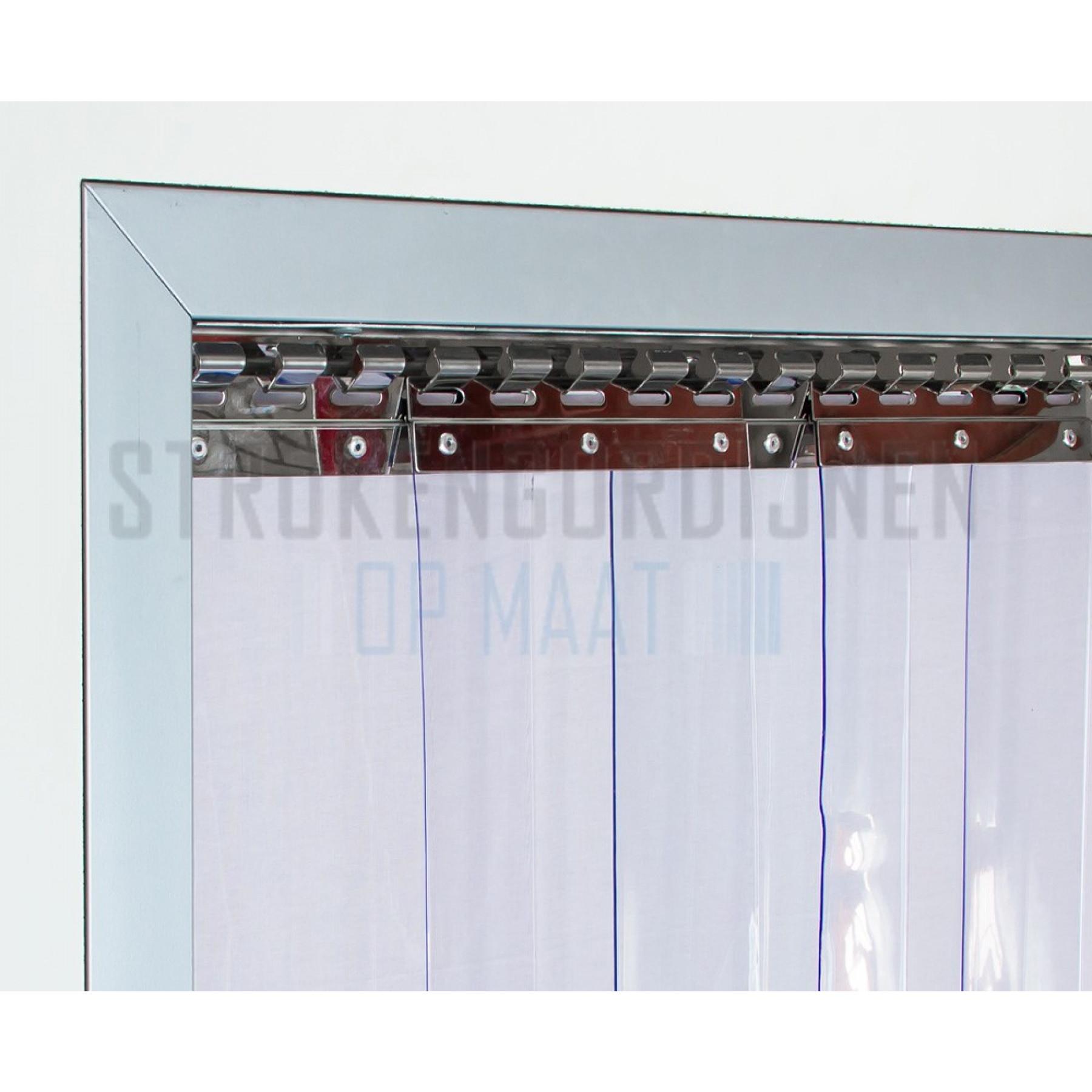Klemstrook voor stroken van 200mm breed, RVS