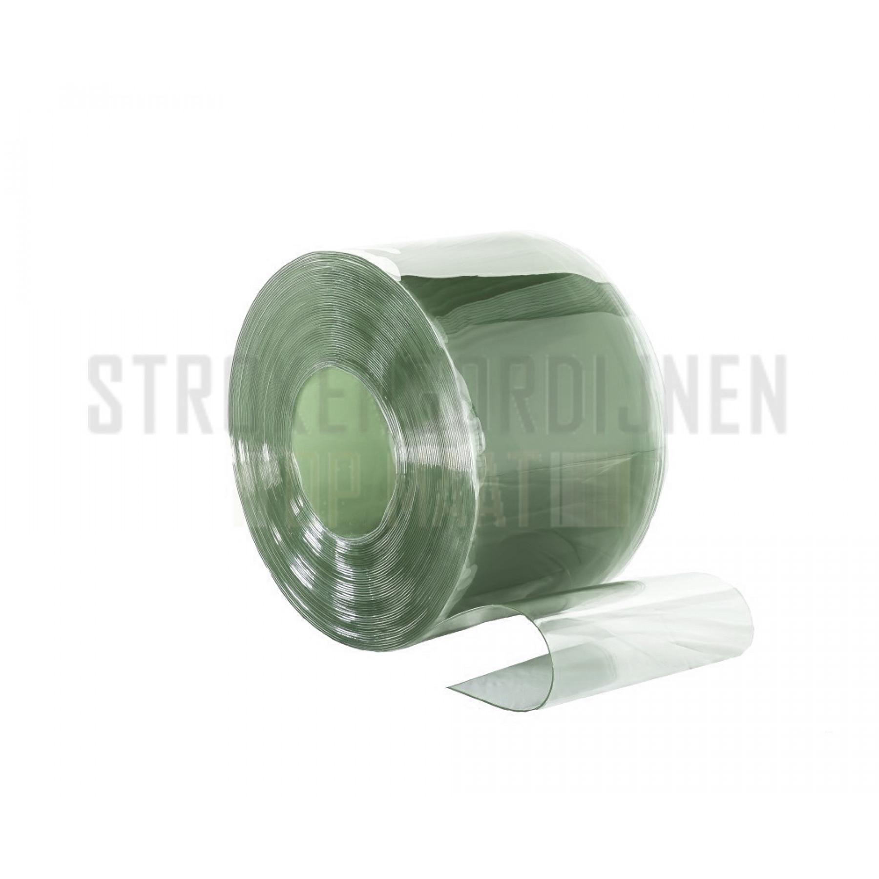 PVC op rol, 200mm breed, 2mm dik, 50 meter lengte, super diepvrieskwaliteit, transparant