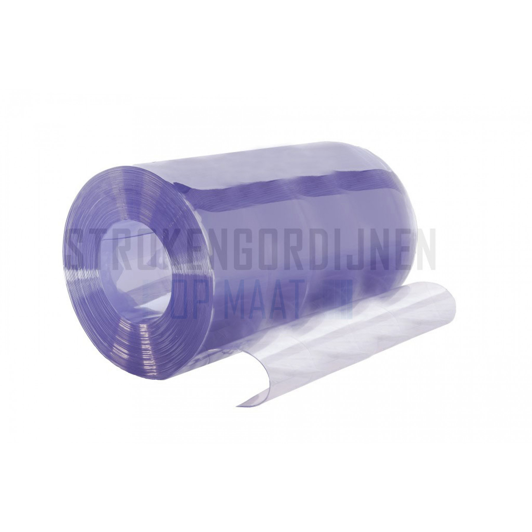 PVC op rol, 1200mm breed, 2mm dik, 20 meter lengte, transparant