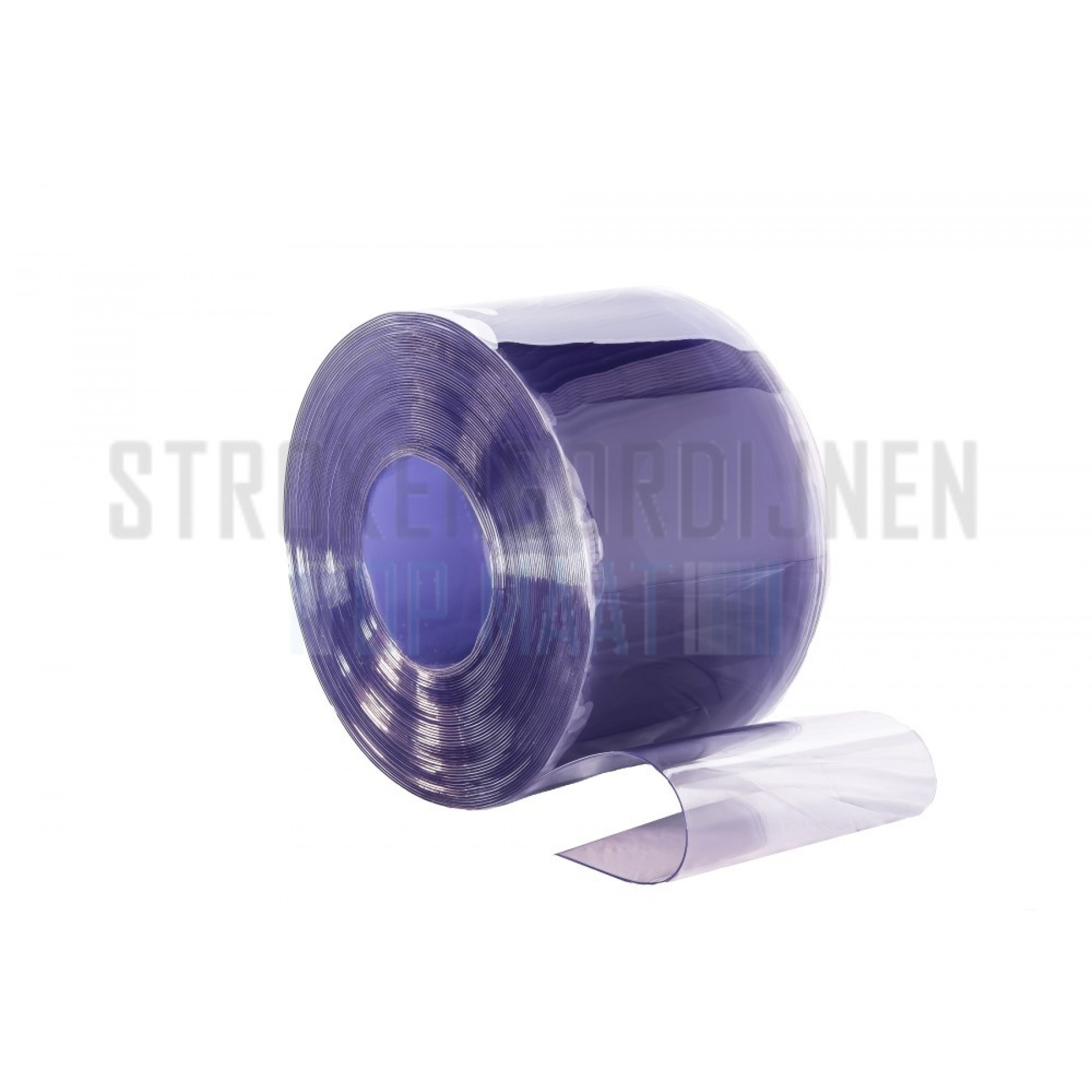 PVC stroken op maat, anti-statisch, 200mm breed, 2mm dik, transparant
