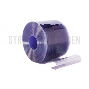 PVC stroken op maat, 400mm breed, 4mm dik, transparant