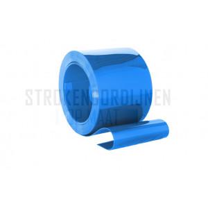 PVC op rol, 200mm breed, 2mm dik, 50 meter lengte, blauw ondoorzichtig