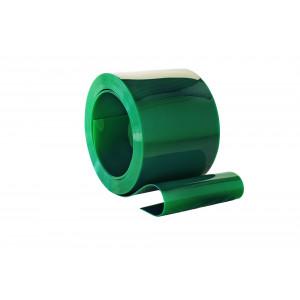 PVC op rol, 300mm breed, 2mm dik, 50 meter lengte, laskwaliteit, kleur groen, transparant