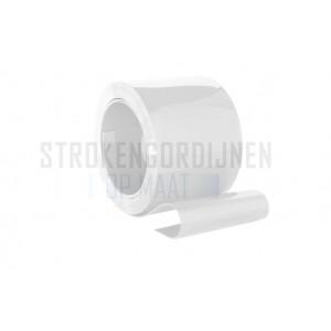 PVC op rol 300mm breed, 3mm dik, 50 meter lengte, wit ondoorzichtig