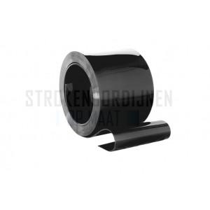 PVC op rol 300mm breed, 3mm dik, 50 meter lengte, zwart ondoorzichtig
