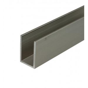Aluminium U-profiel voor verschuifbaar systeem, 3 meter lengte
